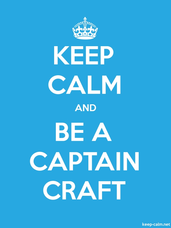 KEEP CALM AND BE A CAPTAIN CRAFT - white/blue - Default (600x800)