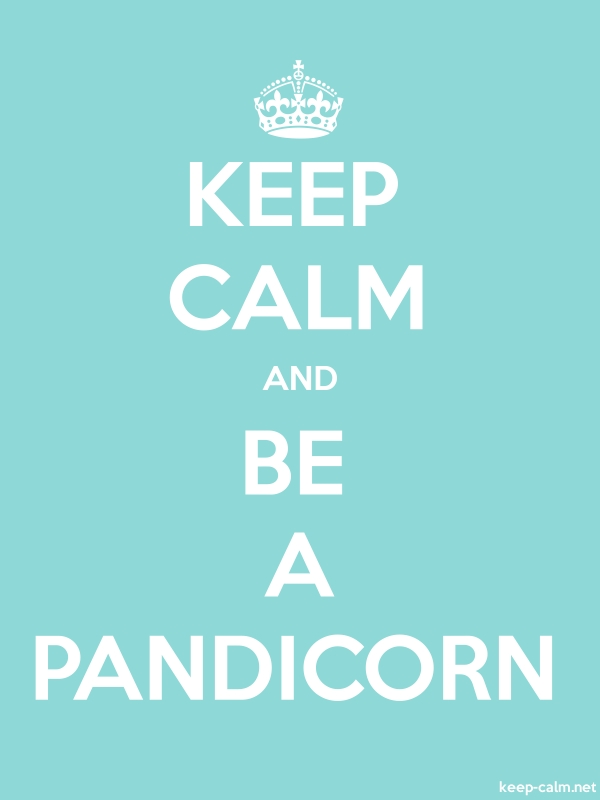 KEEP CALM AND BE A PANDICORN - white/lightblue - Default (600x800)