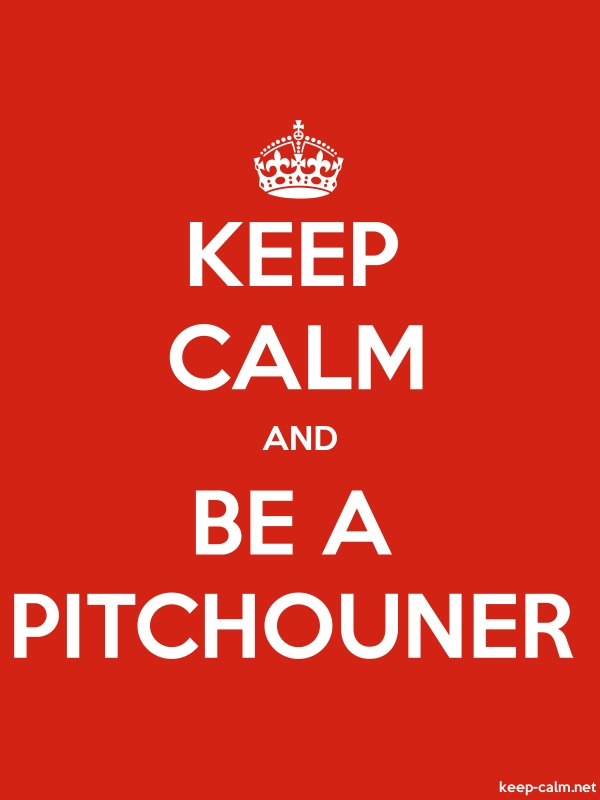 KEEP CALM AND BE A PITCHOUNER - white/red - Default (600x800)