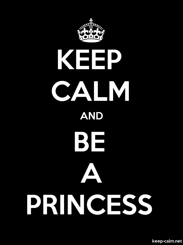 KEEP CALM AND BE A PRINCESS - white/black - Default (600x800)