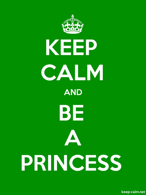 KEEP CALM AND BE A PRINCESS - white/green - Default (600x800)