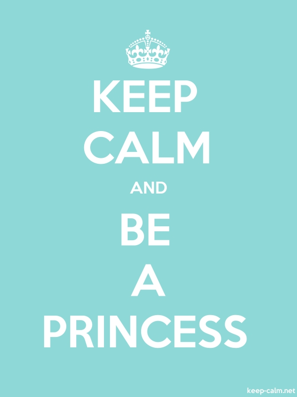 KEEP CALM AND BE A PRINCESS - white/lightblue - Default (600x800)