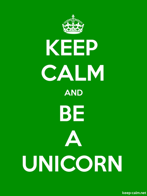 KEEP CALM AND BE A UNICORN - white/green - Default (600x800)