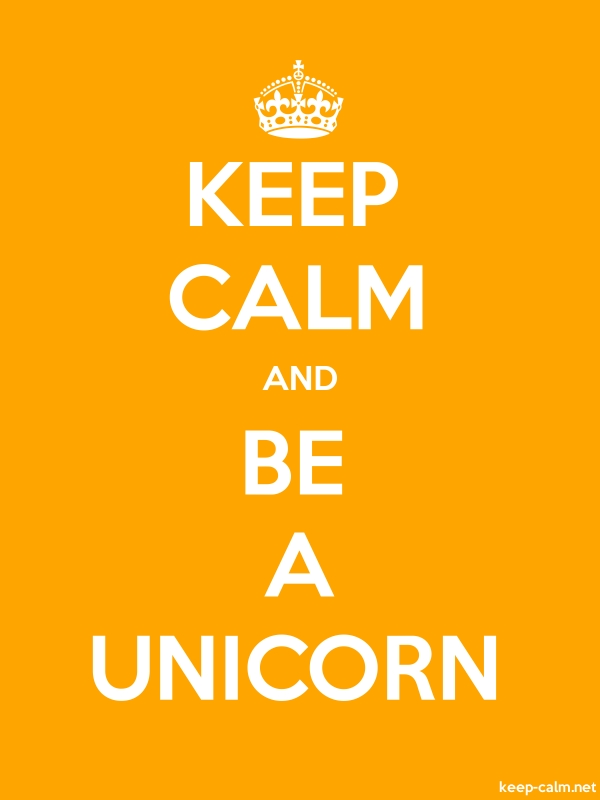 KEEP CALM AND BE A UNICORN - white/orange - Default (600x800)
