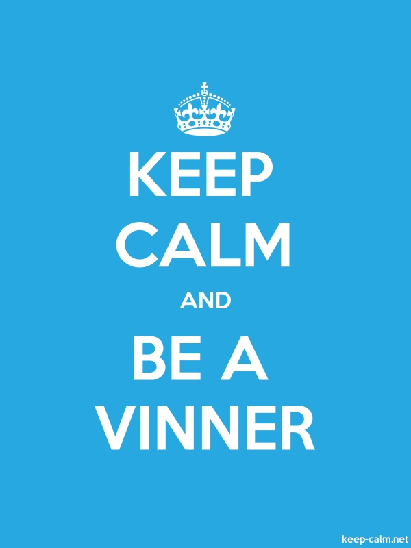 KEEP CALM AND BE A VINNER - white/blue - Default (600x800)