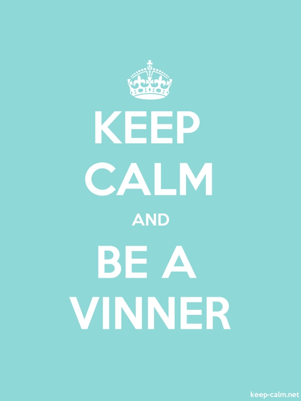 KEEP CALM AND BE A VINNER - white/lightblue - Default (600x800)