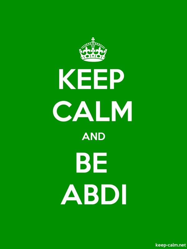 KEEP CALM AND BE ABDI - white/green - Default (600x800)