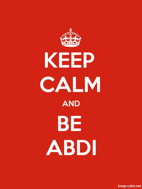 KEEP CALM AND BE ABDI - white/red - Default (600x800)