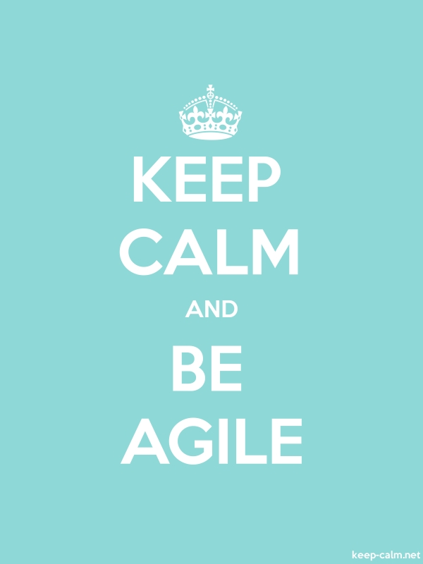 KEEP CALM AND BE AGILE - white/lightblue - Default (600x800)