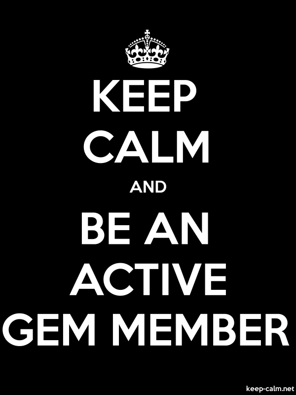 KEEP CALM AND BE AN ACTIVE GEM MEMBER - white/black - Default (600x800)