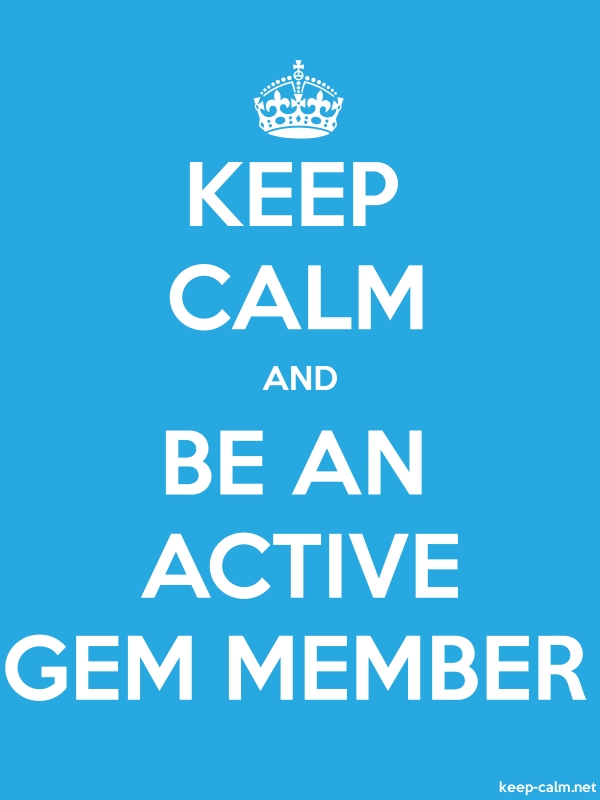 KEEP CALM AND BE AN ACTIVE GEM MEMBER - white/blue - Default (600x800)