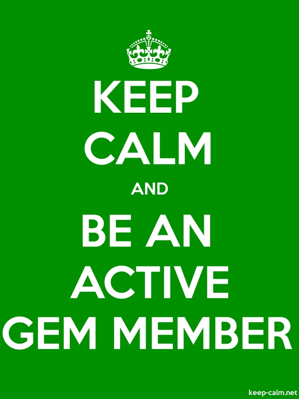 KEEP CALM AND BE AN ACTIVE GEM MEMBER - white/green - Default (600x800)
