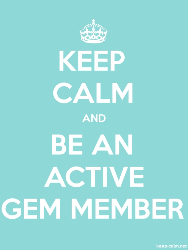 KEEP CALM AND BE AN ACTIVE GEM MEMBER - white/lightblue - Default (600x800)