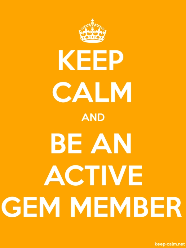 KEEP CALM AND BE AN ACTIVE GEM MEMBER - white/orange - Default (600x800)