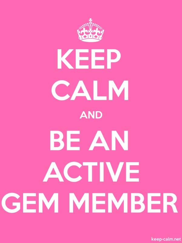 KEEP CALM AND BE AN ACTIVE GEM MEMBER - white/pink - Default (600x800)