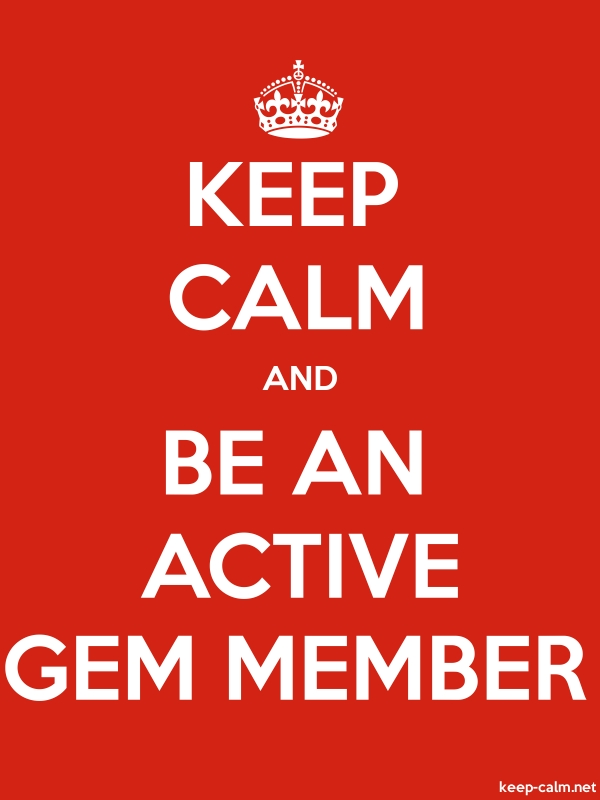 KEEP CALM AND BE AN ACTIVE GEM MEMBER - white/red - Default (600x800)