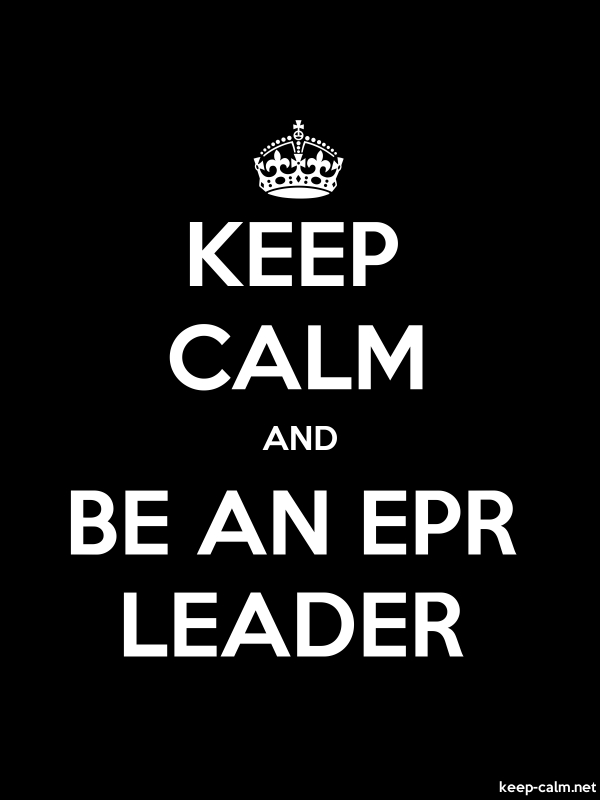 KEEP CALM AND BE AN EPR LEADER - white/black - Default (600x800)