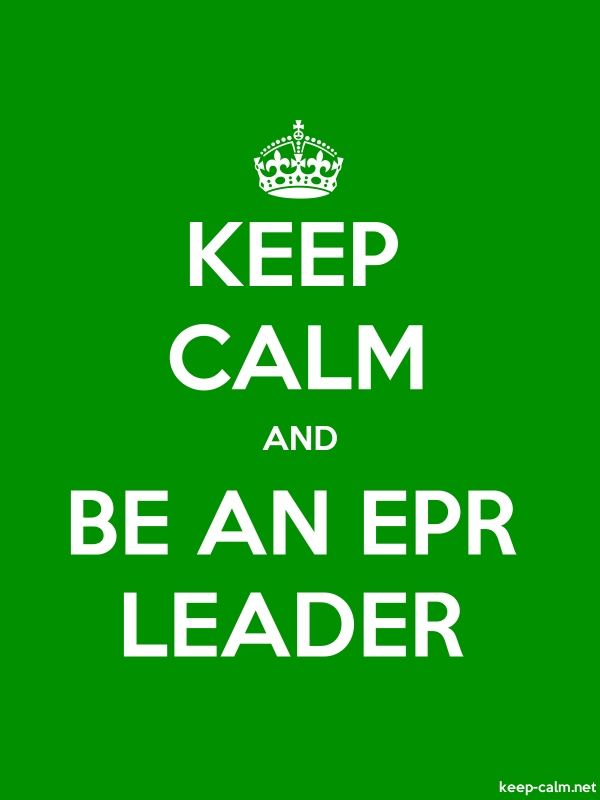 KEEP CALM AND BE AN EPR LEADER - white/green - Default (600x800)
