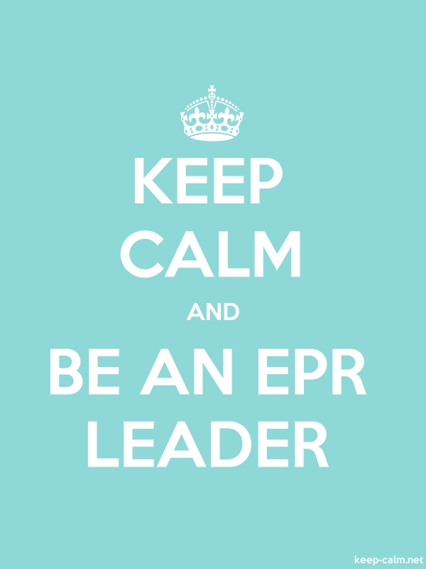 KEEP CALM AND BE AN EPR LEADER - white/lightblue - Default (600x800)