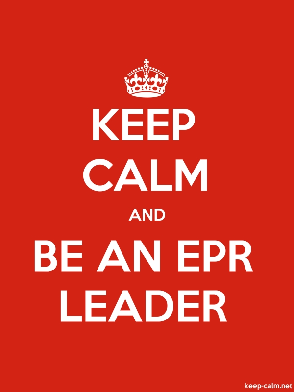 KEEP CALM AND BE AN EPR LEADER - white/red - Default (600x800)