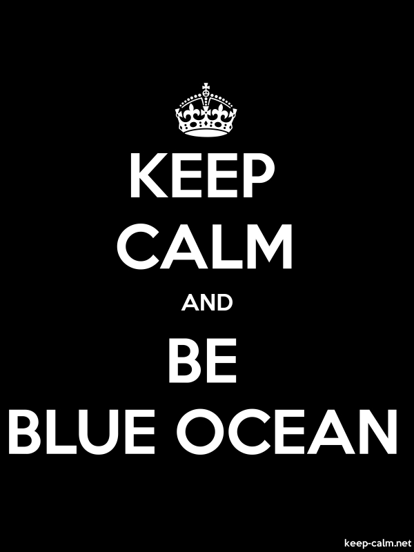 KEEP CALM AND BE BLUE OCEAN - white/black - Default (600x800)