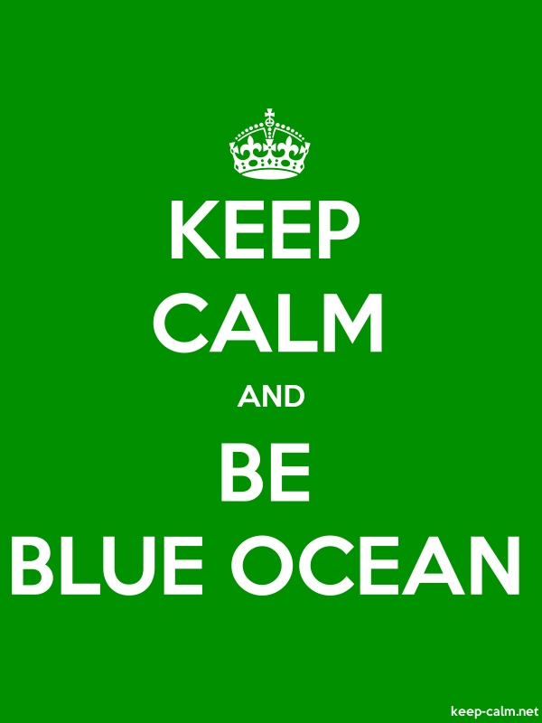 KEEP CALM AND BE BLUE OCEAN - white/green - Default (600x800)