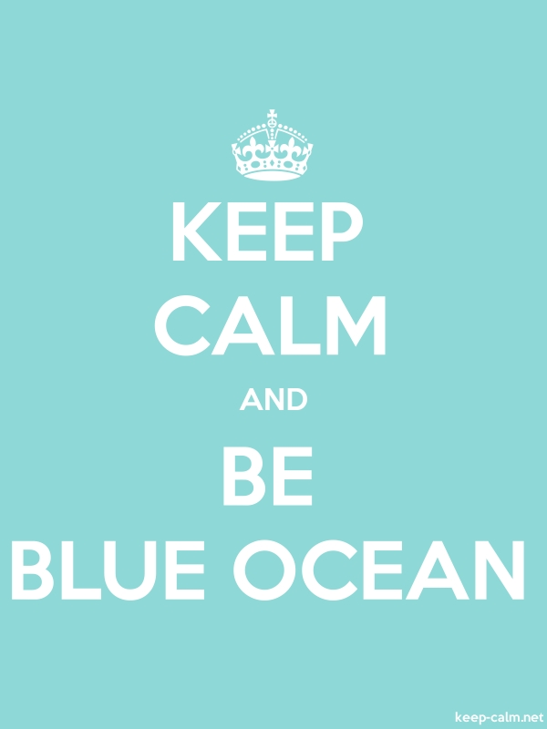 KEEP CALM AND BE BLUE OCEAN - white/lightblue - Default (600x800)