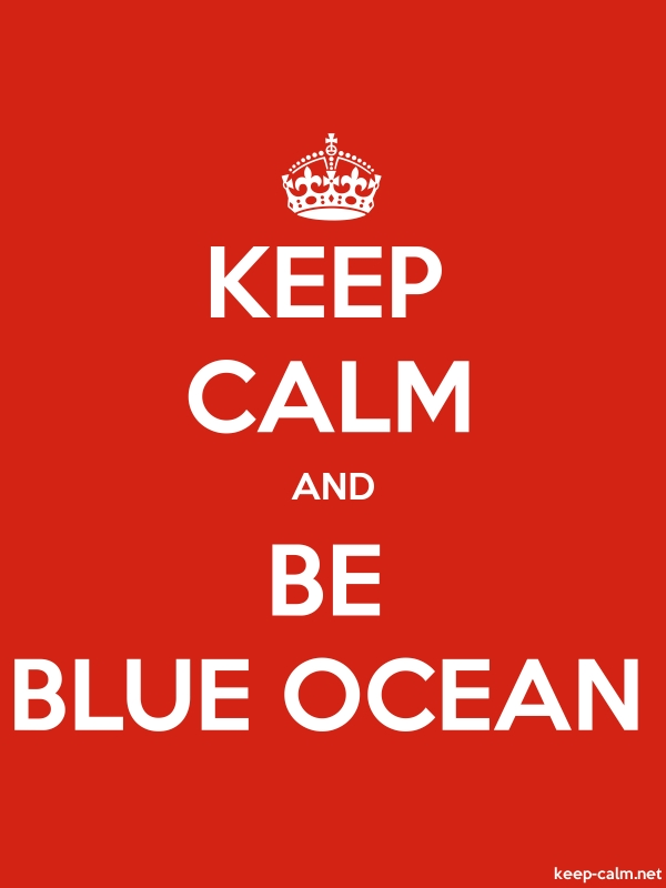 KEEP CALM AND BE BLUE OCEAN - white/red - Default (600x800)