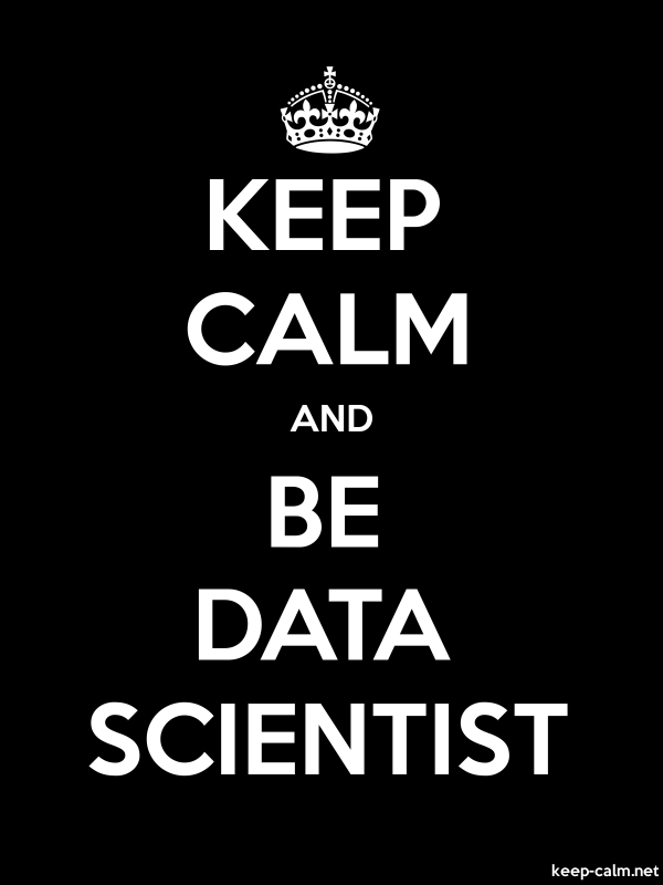 KEEP CALM AND BE DATA SCIENTIST - white/black - Default (600x800)