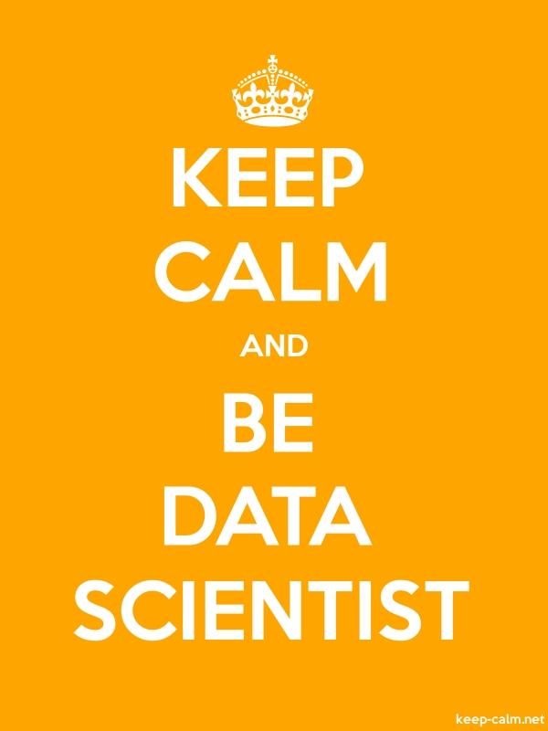 KEEP CALM AND BE DATA SCIENTIST - white/orange - Default (600x800)