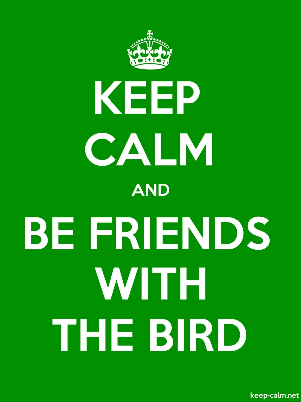 KEEP CALM AND BE FRIENDS WITH THE BIRD - white/green - Default (600x800)