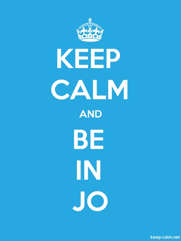 KEEP CALM AND BE IN JO - white/blue - Default (600x800)
