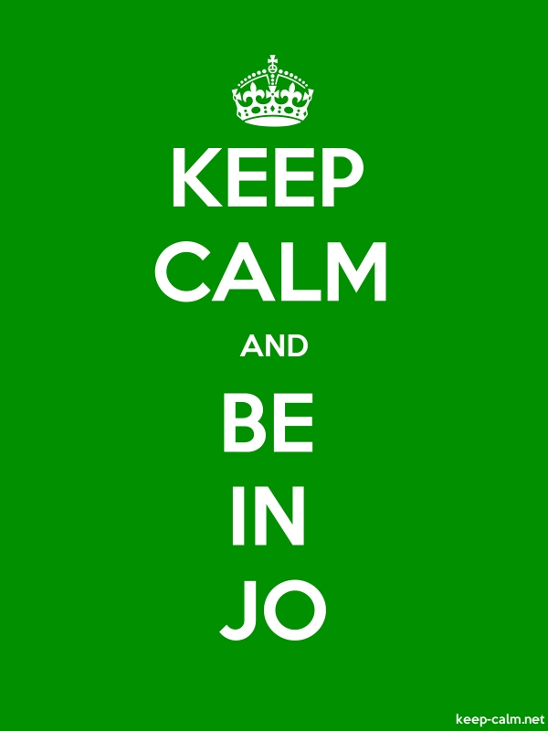 KEEP CALM AND BE IN JO - white/green - Default (600x800)