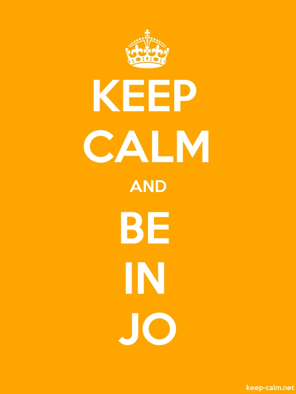 KEEP CALM AND BE IN JO - white/orange - Default (600x800)