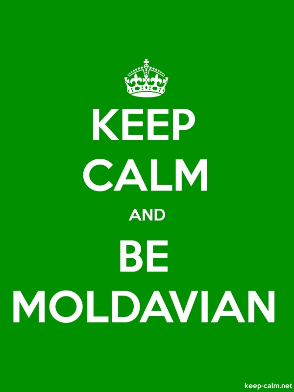 KEEP CALM AND BE MOLDAVIAN - white/green - Default (600x800)