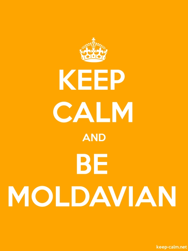 KEEP CALM AND BE MOLDAVIAN - white/orange - Default (600x800)
