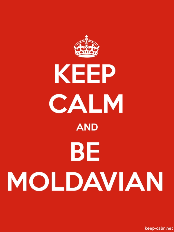 KEEP CALM AND BE MOLDAVIAN - white/red - Default (600x800)