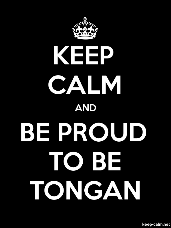 KEEP CALM AND BE PROUD TO BE TONGAN - white/black - Default (600x800)