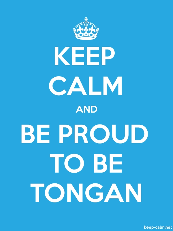 KEEP CALM AND BE PROUD TO BE TONGAN - white/blue - Default (600x800)