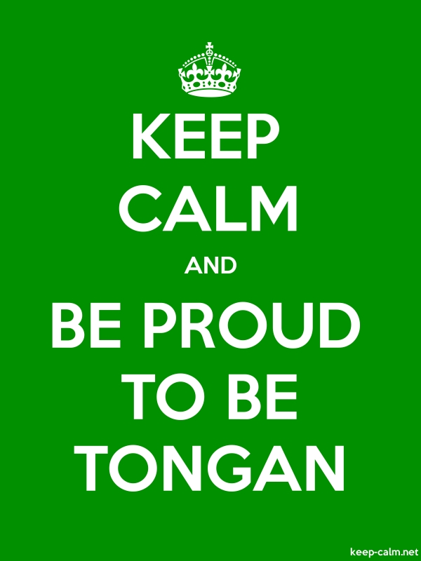 KEEP CALM AND BE PROUD TO BE TONGAN - white/green - Default (600x800)