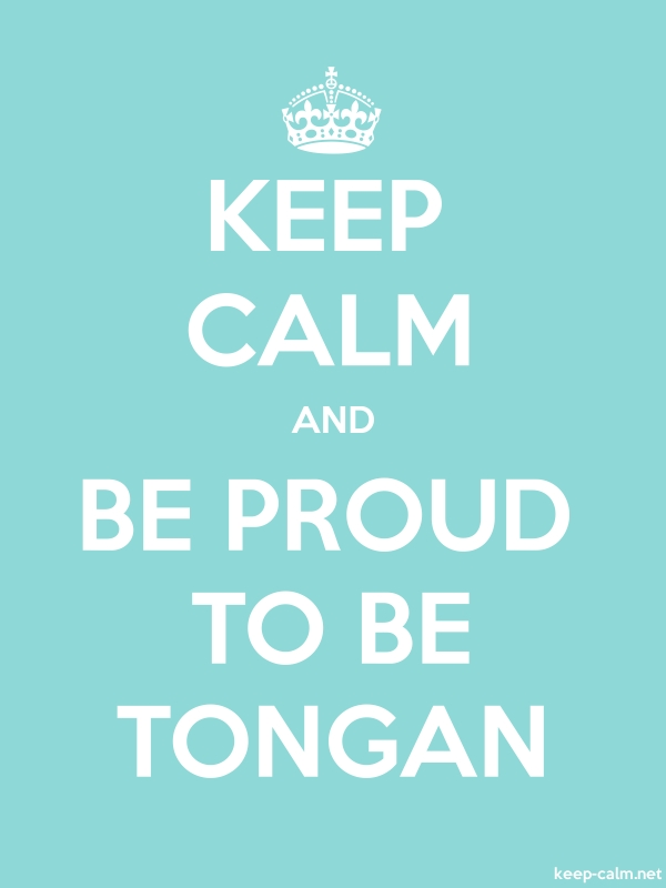 KEEP CALM AND BE PROUD TO BE TONGAN - white/lightblue - Default (600x800)
