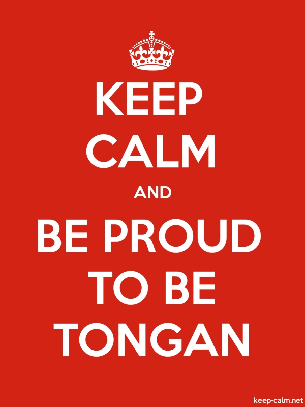 KEEP CALM AND BE PROUD TO BE TONGAN - white/red - Default (600x800)