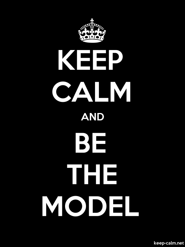 KEEP CALM AND BE THE MODEL - white/black - Default (600x800)