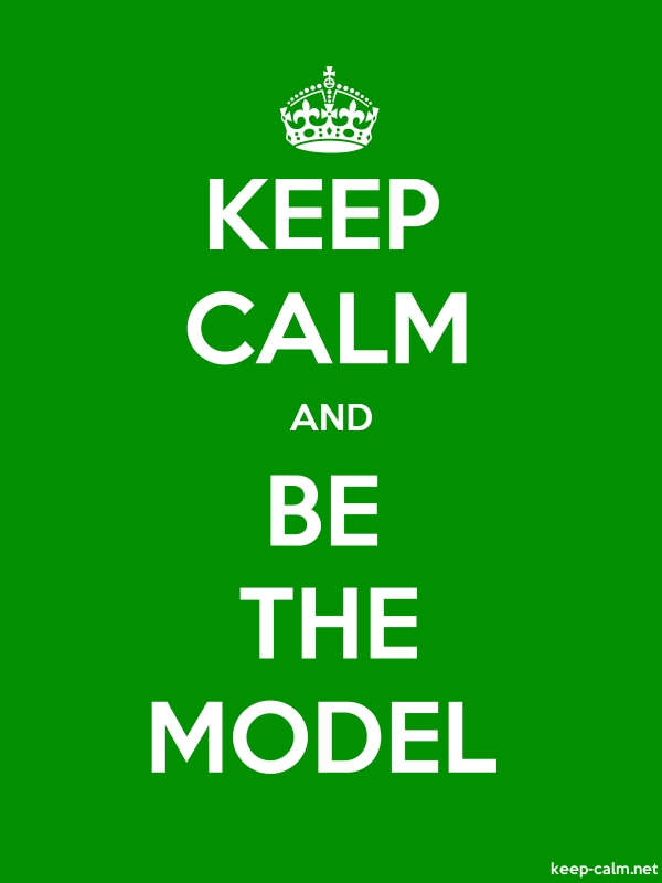KEEP CALM AND BE THE MODEL - white/green - Default (600x800)