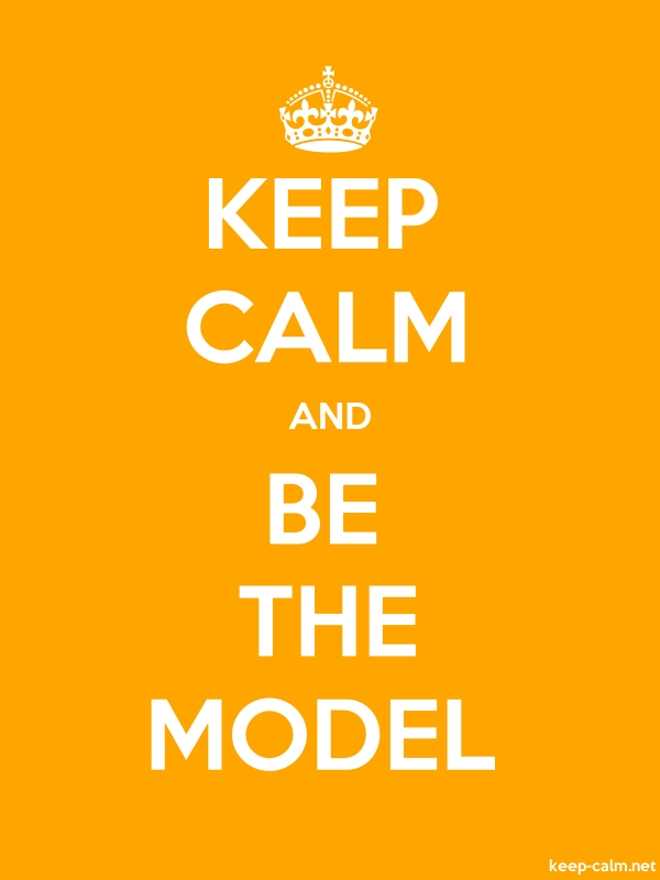 KEEP CALM AND BE THE MODEL - white/orange - Default (600x800)