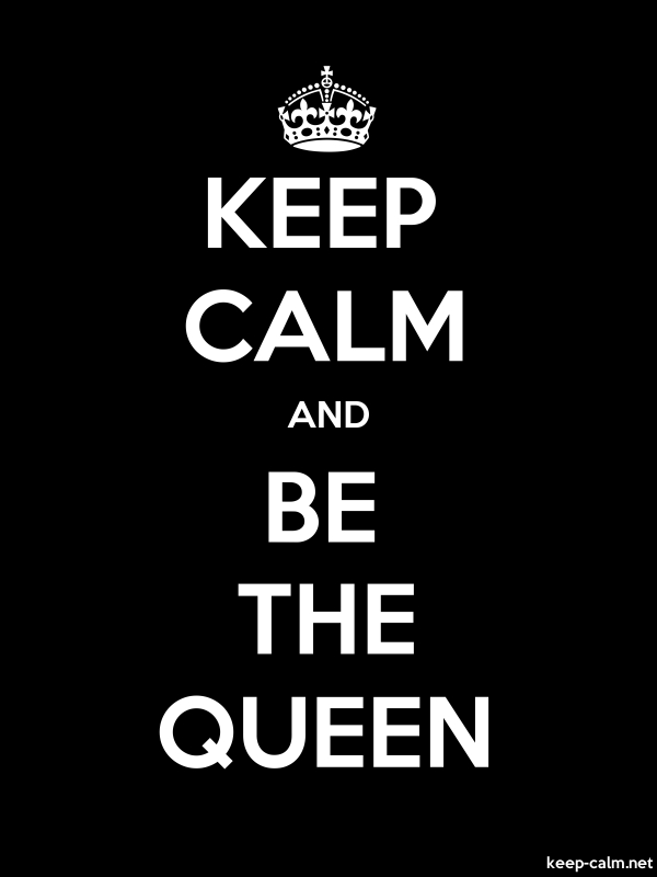KEEP CALM AND BE THE QUEEN - white/black - Default (600x800)