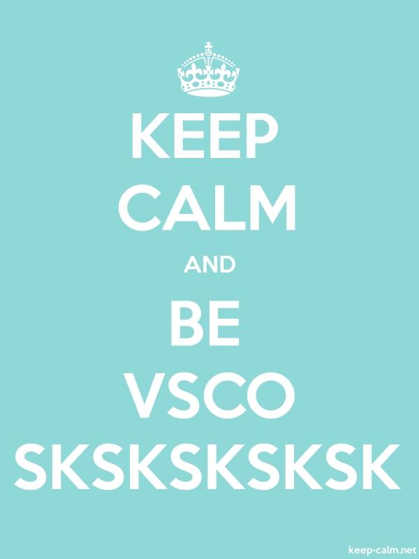 KEEP CALM AND BE VSCO SKSKSKSKSK - white/lightblue - Default (600x800)