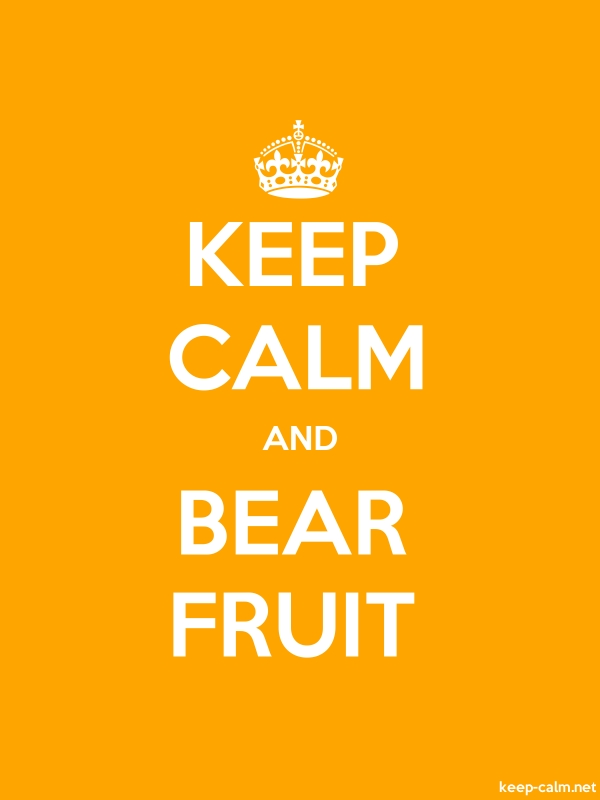 KEEP CALM AND BEAR FRUIT - white/orange - Default (600x800)