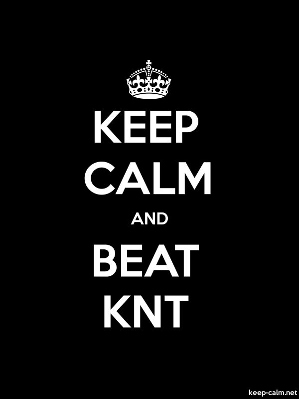 KEEP CALM AND BEAT KNT - white/black - Default (600x800)
