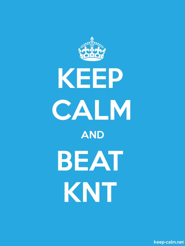 KEEP CALM AND BEAT KNT - white/blue - Default (600x800)